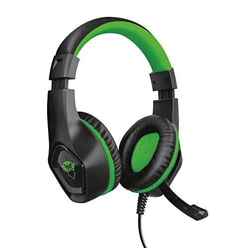 Trust GXT 404G Rana Cuffie Gaming per Xbox One, Potenti unit Altoparlanti Attive da 40 mm, Verde