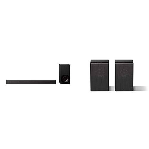 Sony HT-ZF9Soundbar 3.1Canali con Audio ad Alta Risoluzione e Wireless Subwoofer, Colore Nero +  SAZ9R Speaker Posteriore Wireless per Soundbar Ht-ZF9