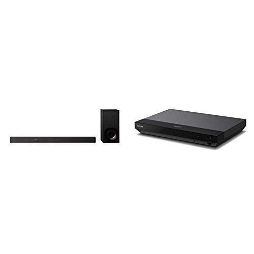 Sony HT-ZF9Soundbar 3.1Canali con Audio ad Alta Risoluzione e Wireless Subwoofer, Colore Nero +  UBPX700B Lettore Blu-Ray Premium 4K HDR con Video 3D, Servizi di Rete e Dolby Atmos