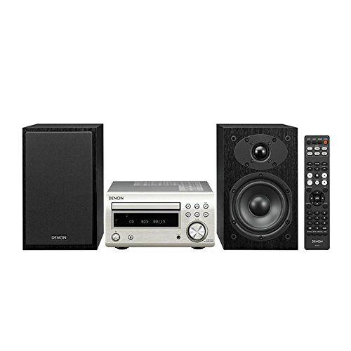 Denon D-M41 Home audio mini system 60W Black,Silver - home audio sets (Home audio mini system, Black, Silver, 60 W, 2-way, 12 cm, 2.5 cm)