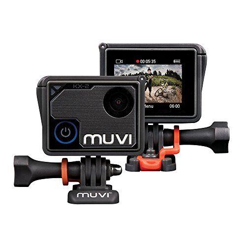 Veho Muvi KX-2 Pro Action Camera 4K, Foto da 12 MP, 4k30 1080p100, Scheda MicroSD da 16 GB, Nero