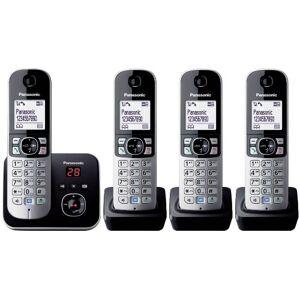 Panasonic KX-TG6824GB - Telefono cordless DECT, schermo da 4,6 cm (1,8 pollici), con segreteria telefonica, colore: Nero (importato da Germania)
