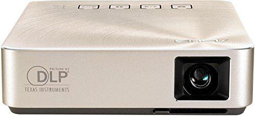 Asus proiettore portatile S1Travel a LED (HDMI/MHL, USB, 854x 480, a batteria, altoparlanti integrati), argento
