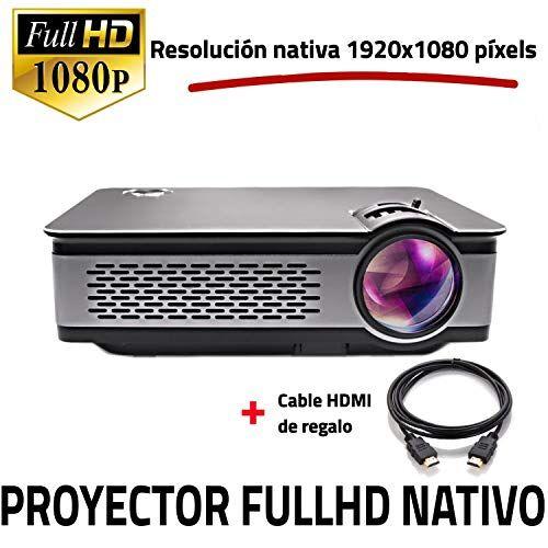 Unicview proiettore Full HD nativo 1080p,  fhd900Ultima Versione 2018, proiettori Maxima luminosità Portatile proiettori LED projector LCD Cinema in casa 1920X 1080Real HDMI VGA USB per PS4, Xbox One, Nintendo switch, risoluzione FullHD
