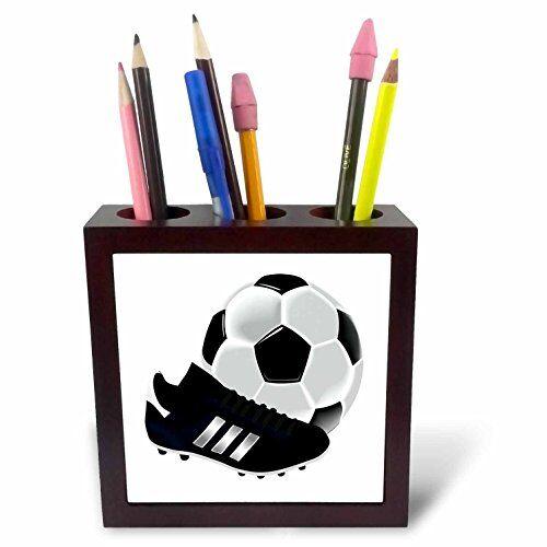 3drose ph 223403_ 112,7cmimmagine del pallone da calcio e scarpe close up tile pen holder