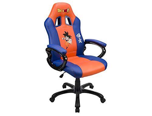 Subsonic Sedile da Gioco A Secchio - Poltrona Gamer con Sedile ergonomico Sedia Gaming da Ufficio Girevole - Licenza Ufficiale Dbz Dragon Ball Super - San GOKU Arancione e Blu - PC
