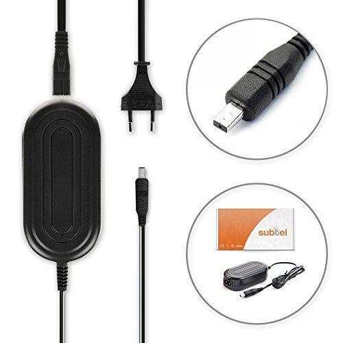 subtel® caricabatteria compatibile con samsung vp-mx20 -mx10 smx-f30 -f34 vp-d371 -d361 -d351 -d20 sc-mx20 -l906 -dx103 -d353 vp-dc171 -dc161 vp-dx100 alimentatore aa-e6a aa-e7 aa-e8 aa-e9 caricatore