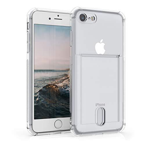 kwmobile Cover Compatibile con Apple iPhone 7/8 / SE (2020) - Crystal Case in Silicone TPU - Custodia con Slot per Carte - Trasparente