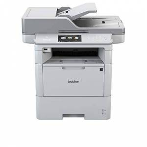 Brother MFCL6800DW Stampante Multifunzione Laser Monocromatica 4 in 1, fino a 26 Pagine al Minuto, Memoria da 512 Mb, LAN, Wi-Fi, NFC, USB 2 Hi-Speed, Cassetto Carta da 520 Fogli