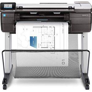 HP DesignJet T830 F9A30A da 91 cm, Stampa, Scansiona, Copia, Velocit 82 Stampe A1 allOra, LAN Gigabit, USB, Wi-Fi, Piedistallo, Nero
