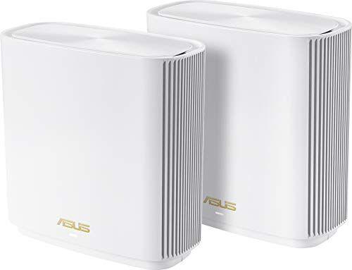 Asus ZenWifi Sistema Wi-Fi 6 tri-band AX6600 Whole-Home, Copertura fino a 410 m/6+ Camere, 6.6 Gbps Wi-Fi, 3 SSID, Sicurezza della Rete, Controllo Genitori Incluso a Vita, Porta 2.5G, 2 Pezzi, Bianco