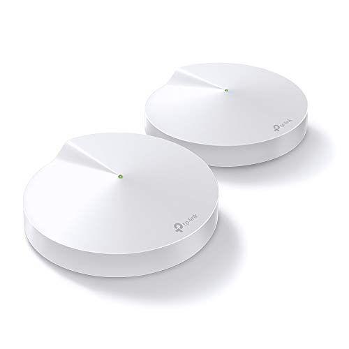 TP-Link Deco M9 Plus Wifi Mesh, Pacchetto da 2 unit fino a 400 , AC2200, Velocit Tri-Band (2.4GHz+2x5GHz) 2134Mbps, Consigliato per giocatori di giochi e utenti di Fibra, Compatibile Alexa