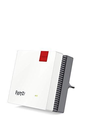 AVM FRITZ!Repeater 1200 International, ripetitore/estensore segnale WiFi AC+N, Dual Band (400 Mbit/s a 2.4GHz e 866 Mbit/s a 5 GHz), Mesh, Access Point WiFi, WPS, Interfaccia in italiano