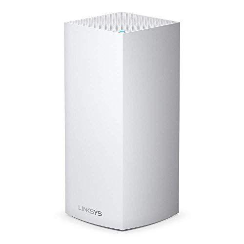 HUAWL Linksys AX5300 Sistema Wi-Fi 6 Mesh Tri-Band Velop MX5300, Copertura Fino a 260 mq, 1 Terminale Fino a 5.3 Gbps, Bianco