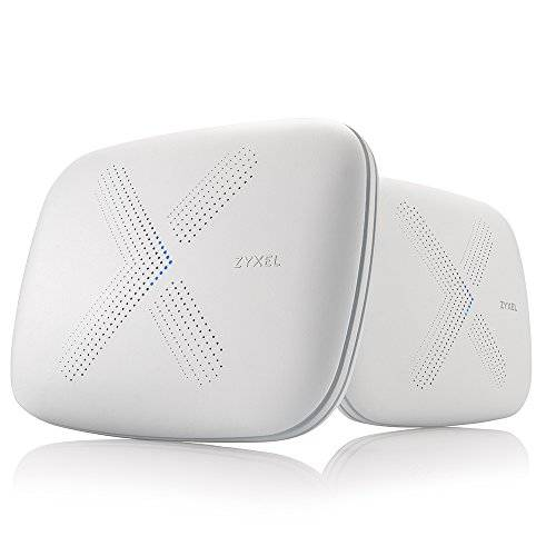 Zyxel Multy X Tri-Band AC3000 Whole Home Wi-Fi Mesh System. Supporta Amazon Alexa. Router e Satellite - Pack of 2 [WSQ50]