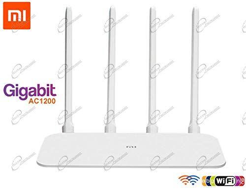 Telcominstrument Mi Router 4A Router Wifi Gigabit Dual Band AC1200, con porta LAN Gigabit, connessione Wireless 2.4GHZ+5GHz, configurazione semplice, alta sicurezza wifi, QoS, compatibile Xiaomi versione EU