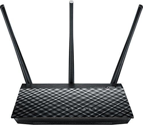 Asus RT-AC53 Gigabit Router Wireless-AC750 Dual-Band 802.11ac, 433 Mbps (5GHz) 802.11n, 300 Mbps (2.4GHz) 1 x GbE WAN, 2 x GbE LAN
