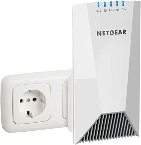 Netgear EX7500 Ripetitore WiFi Mesh AC2200, Copertura per 4-5 Stanze e 20 Dispositivi, Tri-Band fino a 2200 Mbps, Funzionalit Mesh con Modem Fibra e ADSL