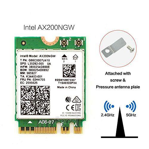 OSGEAR Intel OSGEAR-NEU Dual Band Wireless-AX200NGW WLA/Wi-Fi 6 AX200 2230 2x2 AX+ Bluetooth 5.0,M.2/A-E-Key (AX200.NGWG) Wi-Fi 6 AX200 con vPro, 2.4 GHz/5 GHz WLAN, Bluetooth 5.0, M.2/A-E-Key 802/A-E .11ax