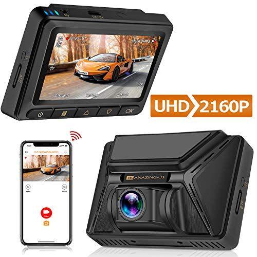 Oasser Dash Cam Telecamera per Auto UHD 2160P con Obiettivo Grandangolare di 170° Super-Condensatore SONY STARVIS IMX335 Visione Notturna con Registrazione in Loop G-Sensor GPS/wifi incassato