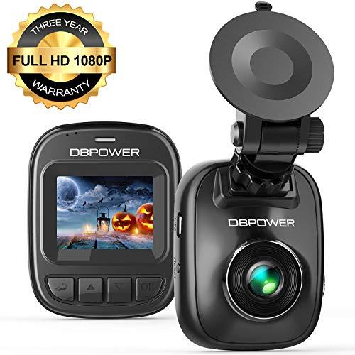 DBPOWER Telecamera per Auto 1080p, Mini videocamera per auto con Schermo da 1,5, Registratore Guida Auto con Visione Notturna, G-Sensor, Rilevazione Movimento, Loop Continuo, Monitor Parcheggio