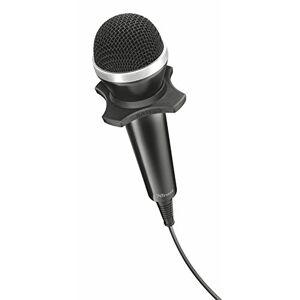 Trust Starzz Microfono Portatile USB per PC e Laptop, Nero