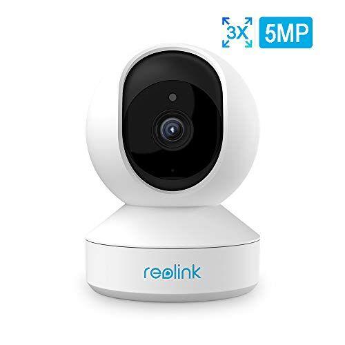 Reolink E1 Zoom Telecamera WiFi PTZ Sorveglianza Interno 5MP, IP WiFi Camera 2.4GHz/5GHz, Baby Monitor, Audio Bidirezionale, Visione Notturna e Visualizzazione Remota