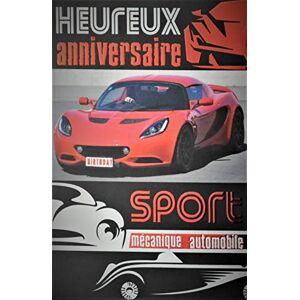 Afie Biglietto di auguri per compleanno, auto rossa, sportivo, meccanico, velocit anni