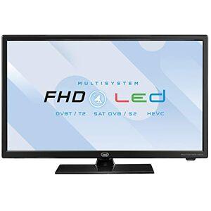 Trevi LTV 2202 SAT Televisore LED 22 con Decoder Digitale Terrestre DVBT-T2 e Satellitare DVBS-S2, HEVC 10 Bit, Presa Accendisigari 12V, Ideale per Camper, Compatibile Tivsat, Funzione Hotel