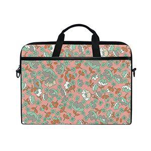 Ahomy Fiore Floreale Panno Modello 1439,1cm Multifunzionale Tessuto Impermeabile di Custodia Valigetta Borsa a Tracolla Messenger Bag