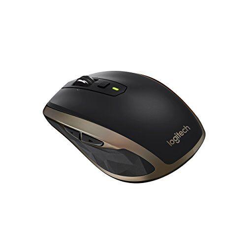 Logitech MX Anywhere 2 Mouse Wireless per Windows e Mac con Bluetooth e Unifying, Standard, Nero