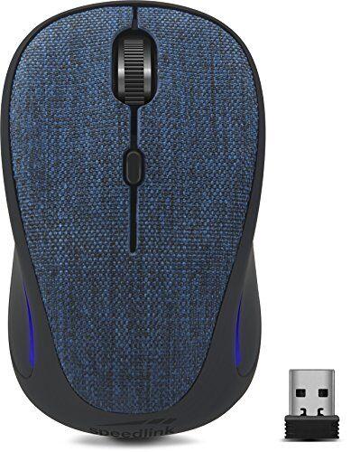 Speedlink Speed Link Cius Silent Mouse, senza fili, Volume Los, silenzioso, ergonomico, silenzioso, senza cavo, Radio, Wireless, mute Mouse (sensore ottico, 1.600dpi, Nano USB, 5 pulsanti, DPI switch) Blu