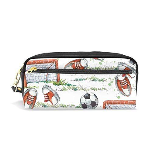 cpyang pencil case sport calcio campo scarpe in pelle matita borsa penna cerniera supporto student cancelleria cosmetici