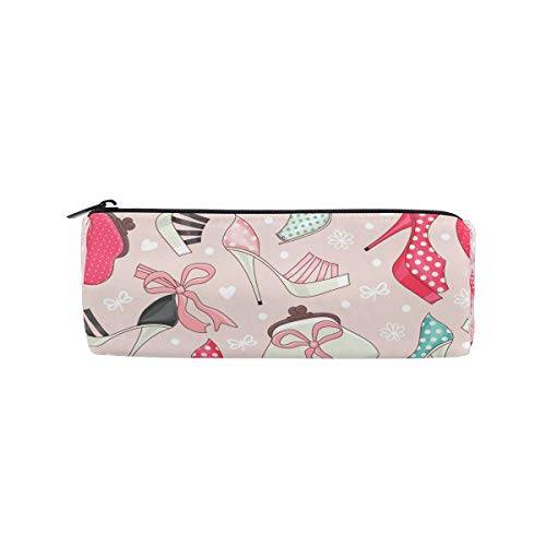 Ahomy matita casi donna scarpe e borse cerniera matita della borsa per ragazze e ragazzi, borsa viaggio porta trucchi per donne