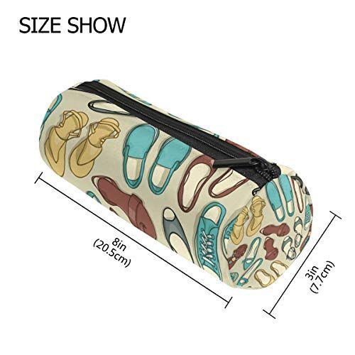 Tizorax estate scarpe modello matita della penna organizzatore trucco Costmetic cerniera borsa moneta del sacchetto per le donne Teen Girls Boys Kids