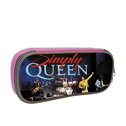 Notapplicable Astuccio Queen-Band grande capacit portapenne ufficio cancelleria borsa per Gilrs ragazzi e adulti ONE_SIZE rosa