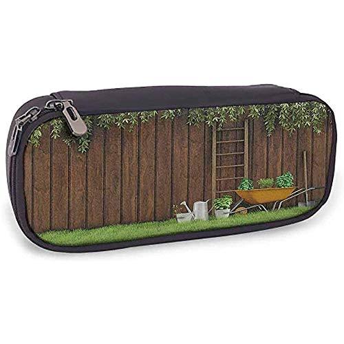 KW-Wosn Astuccio per matite Attrezzi da giardinaggio per attrezzi da fattoria sul cortile con pala e secchio