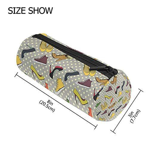 Tizorax Hill scarpe e sneakers modello matita della penna organizzatore trucco Costmetic cerniera borsa moneta del sacchetto per le donne Teen Girls Boys Kids