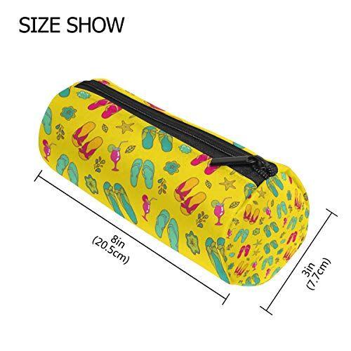 Tizorax Summer Starfish scarpe modello matita della penna organizzatore trucco Costmetic cerniera borsa moneta del sacchetto per le donne Teen Girls Boys Kids