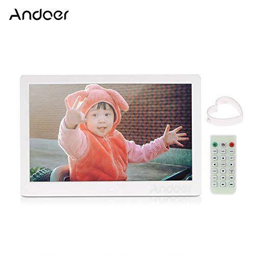 """Andoer 13"""" Cornice Foto Digitale LED per Musica e Film Supporto MP3 / MP4 / Calendario / Sveglia Regalo di Natale con Telecomando"""