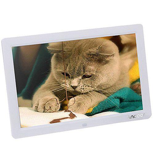 Andoer 12'' Cornice Foto Digitale HD LCD per Musica e Film MP3 / MP4 / Calendario / Sveglia Regalo di Natale con Telecomando