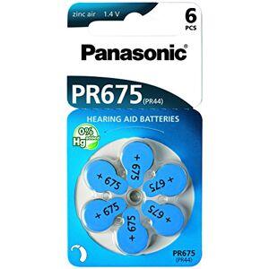 Panasonic PR675LH x 6 Pile allo zinco per apparecchi acustici
