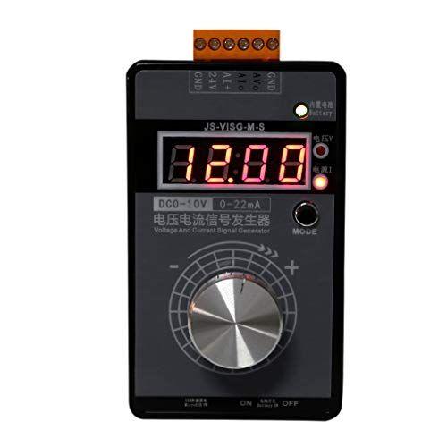 qiman - generatore di segnale portatile ad alta precisione, 0-10 v, 0-22 ma, tensione di corrente regolabile, simulatore analogico con indicatore led