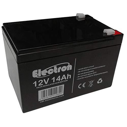 ELECTRON Batteria ricaricabile al piombo 48V 12V 14Ah adatta per UPS allarmi solare, trazione elettrica monopattini bici max 250W