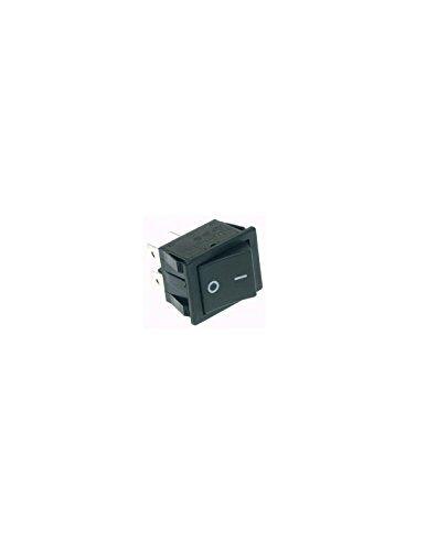 perel interruttore di potenza a dondolo 10a-250v dpst on-offcoperchio nero 'i/o'
