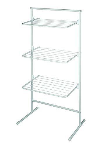 qsweet rrets - stendibiancheria a torre, modello triplo, flessibile, per piccoli ambienti, design svedese