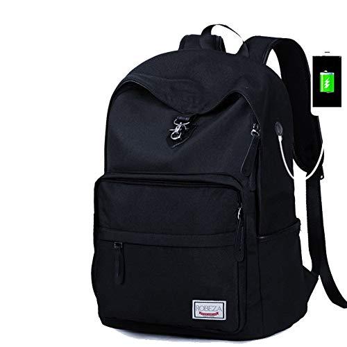 HXG Zaino per Laptop Zaino da Viaggio Impermeabile da 15 Pollici Borsa da Uomo in Pelle Casual per Uomini e Donne di Moda Casual con Porta di Ricarica USB