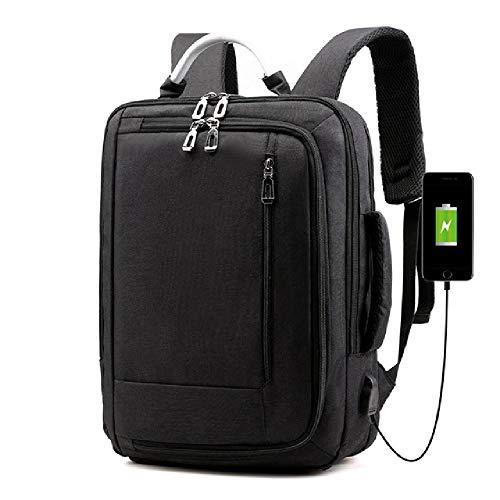 YoxYo Moda Uomo Zaino per Laptop USB Ricarica Zaini per Computer Borse Stile Casual Grande Borsa da Viaggio per Uomo d'Affari