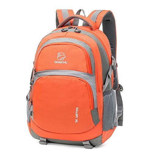 Wn Zaino da Escursionismo per Esterno Nuova Tendenza Moda Borsa da Viaggio per Uomo E Donna Arancione