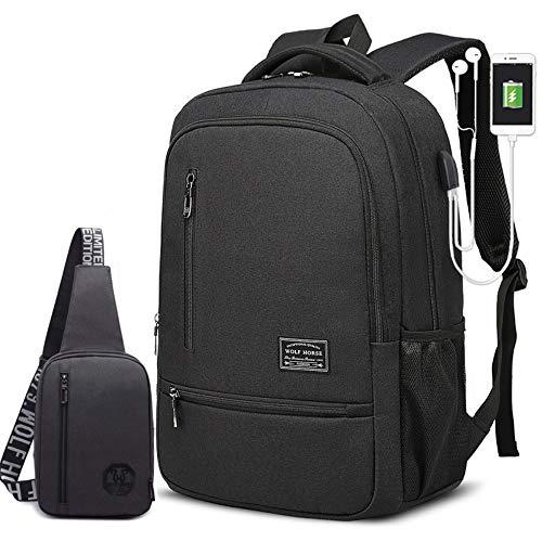 HXG Zaino per Laptop Borsa da Viaggio Impermeabile da 15 Pollici Borsa da Viaggio Leggera per Uomo d'Affari di Moda Casual da Uomo e da Donna